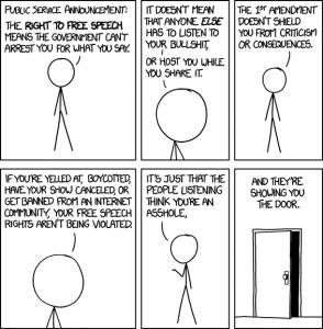 XKCD 1357: Free Speech