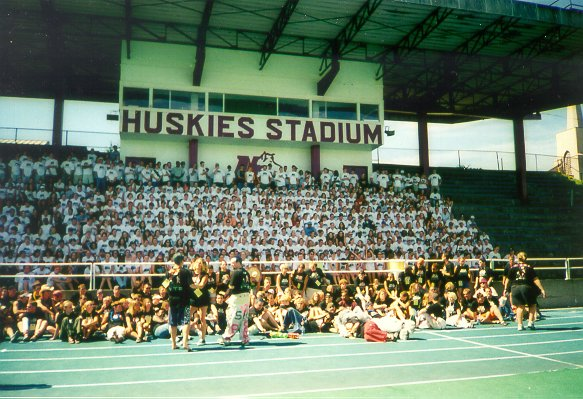 The stands at Huskies Stadium. Click for a 700% enlargement. Photo courtesy of Stephanie Porier.