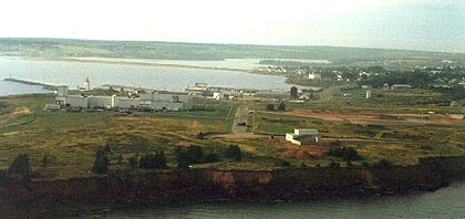 Aerial view of Souris from the east - Photo by Boyd Leard